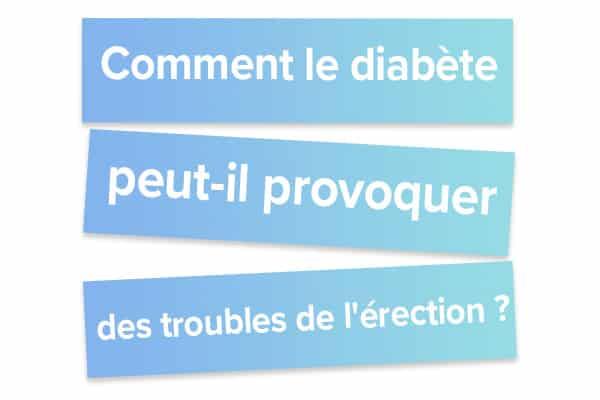 Comment le diabète peut-il provoquer des troubles de l'érection