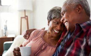 Happy couple who had overcome erectile dysfunction