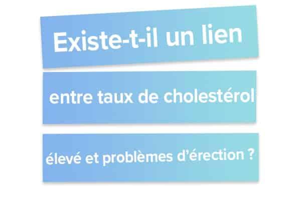 existe t-il un lien entre cholestrerol et problèmes d'érection